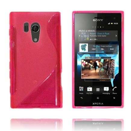 Läpikuultava S-Line (Vaaleanpunainen) Sony Xperia Acro S Suojakuori
