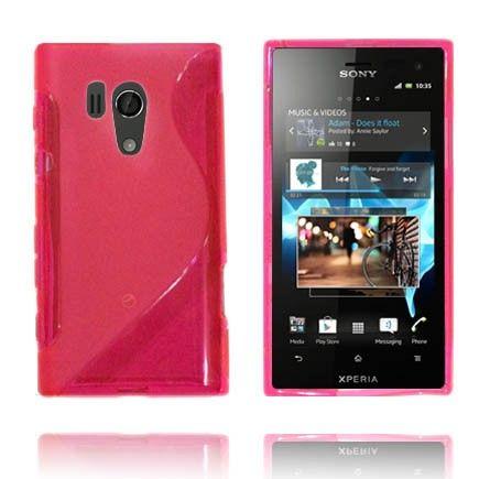 Transparent S-Line (Rosa) Sony Xperia Acro S Deksel