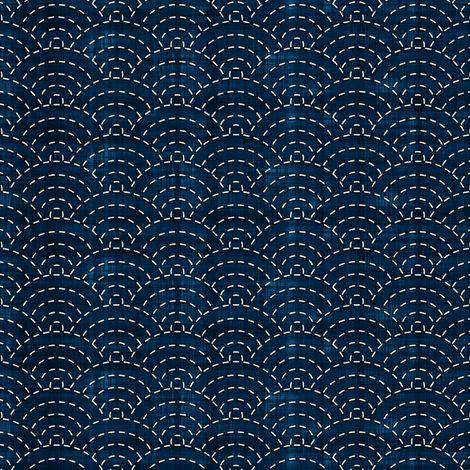 Sashiko: Seikaiha - Ocean waves fabric by bonnie_phantasm on Spoonflower - custom fabric