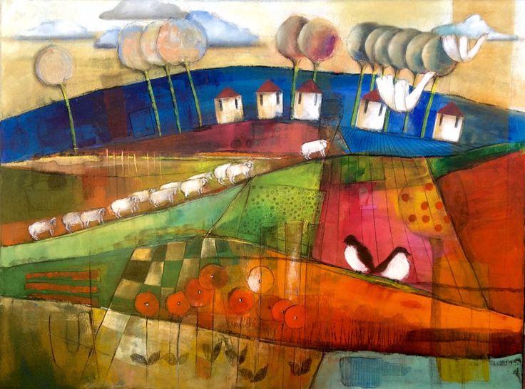 Rush Hour - Dalene Meiring.  Parnell Gallery Artist.  http://www.parnellgallery.co.nz/artists/dalene-meiring/