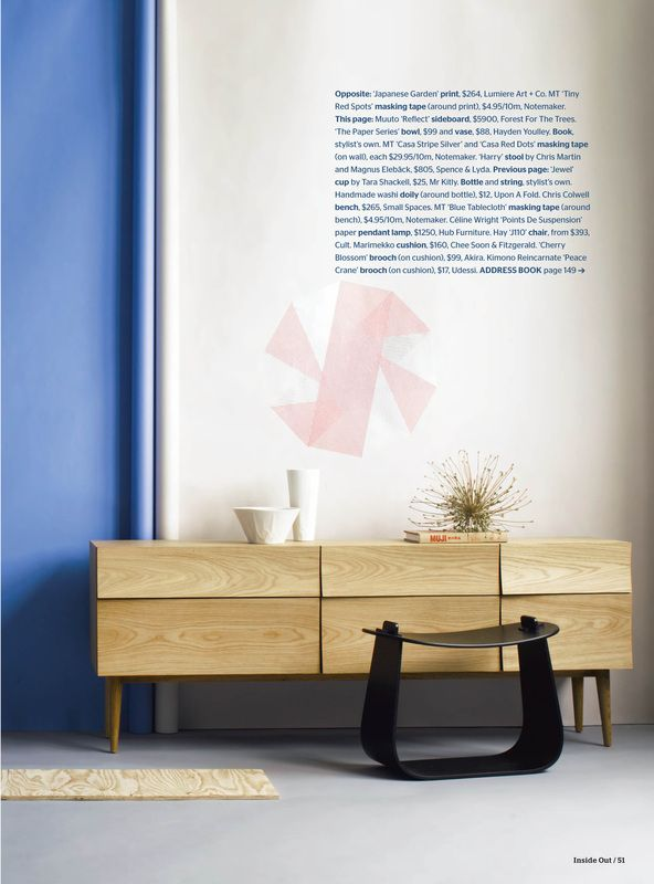 The Paper Series featured in Inside Out Magazine