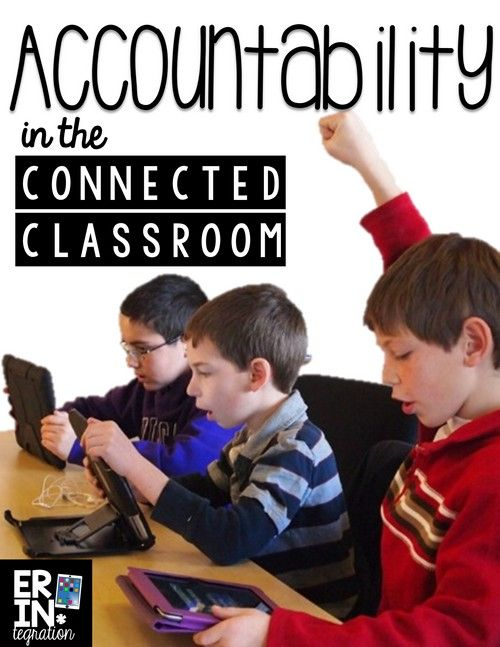 Hold students accountable when using technology in the classroom with these tips. Great ideas for accountability when playing games on websites and iPad apps too!