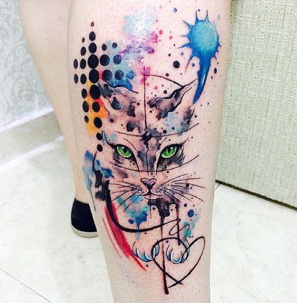25+ Best Ideas About Watercolor Cat Tattoo On Pinterest
