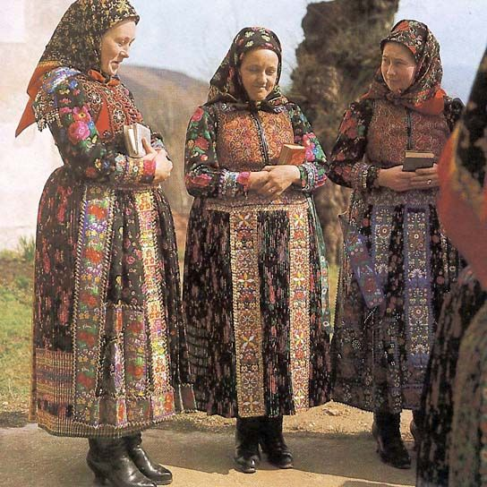 Hungarian folk costumes - Explore the World with Travel Nerd Nici, one Country at a Time. http://TravelNerdNici.com