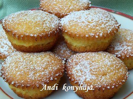 Andi konyhája - vanília pudingos muffinl