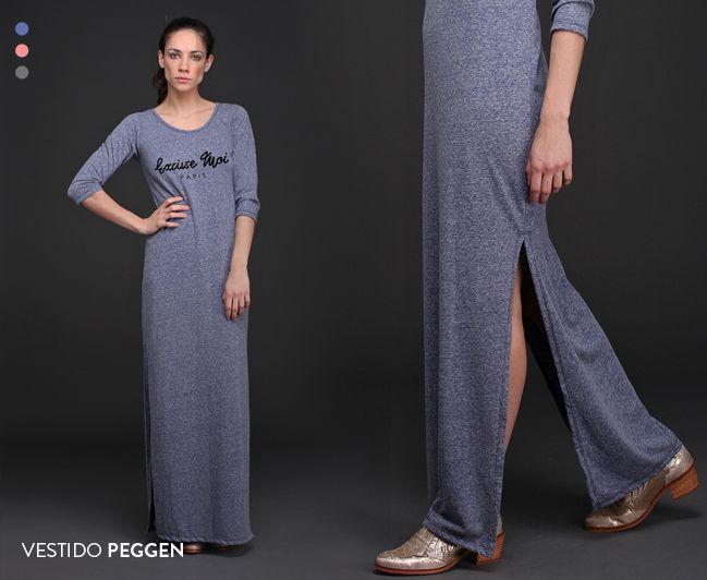 Largo, liviano y canchero. El Vestido Peggen es una prenda femenina y casual. Ideal para entretiempo. #Vestidos