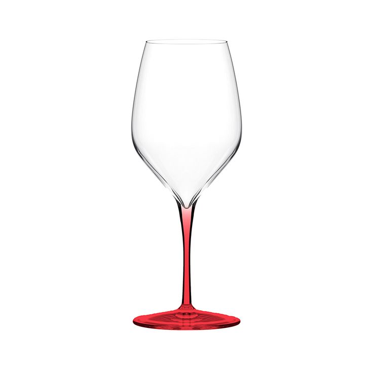 Italesse Set Of 6 Vertical Medium Wine Gles In Red For Tasting Light White Wines And Precious