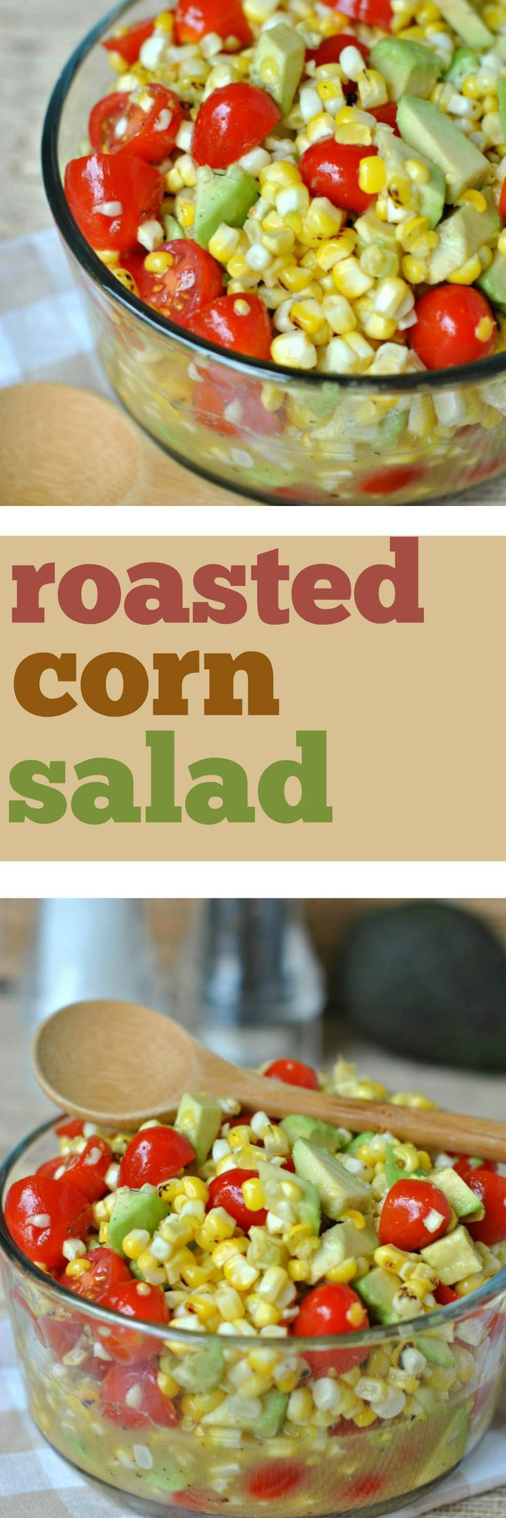 This Roasted Corn Salad recipe was given to me by a neighbor. I've made it 4 times in the past two weeks, it's that good! The honey-lime dressing gives a touch of sweetness to the veggies!