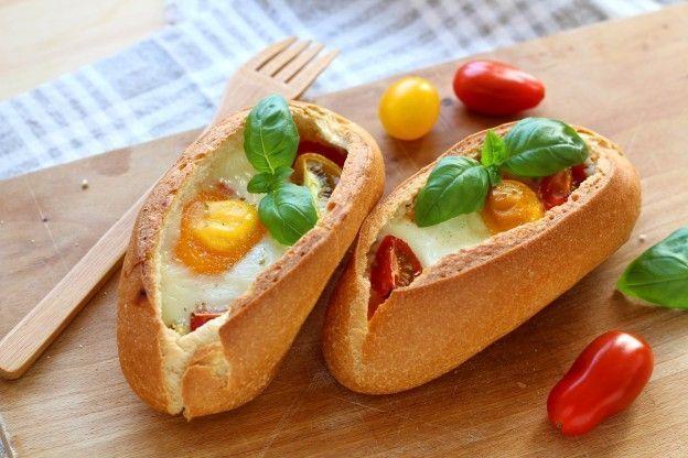 Barchette di pane all'uovo