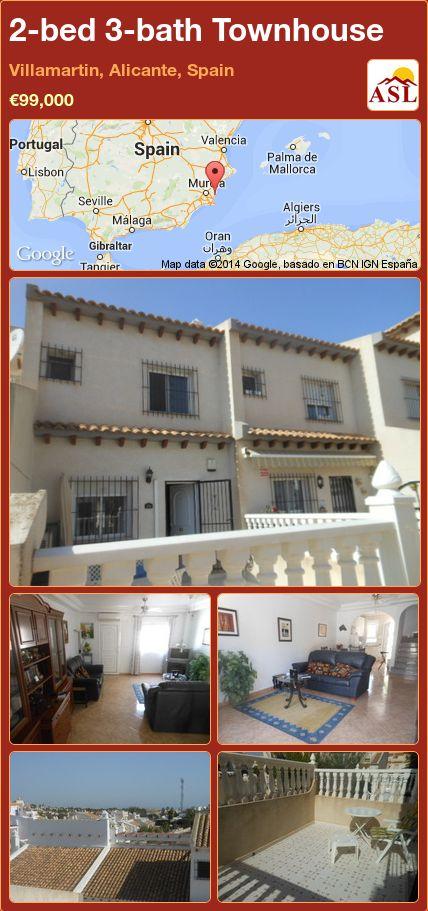 2-bed 3-bath Townhouse in Villamartin, Alicante, Spain ►€99,000 #PropertyForSaleInSpain
