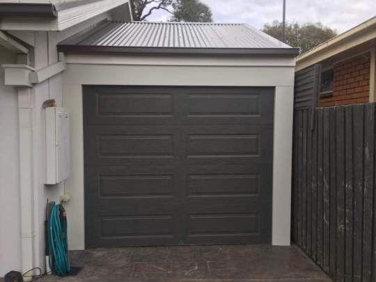 A Recent Single Garage Panel Door Installed In Melbourne Garage