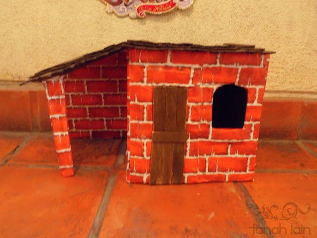 Cómo hacer una casa para el Belén | Manualidades