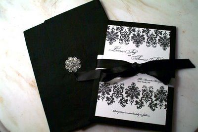 black and white wedding invitations: The Knot, Black And White, Pink Ribbons, Google Search, Wedding Invitations, Black White, White Weddings, Invitations Ideas, White Wedding Cakes