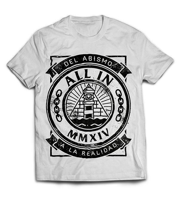 All in T-shirt by Marc Pallàs, via Behance