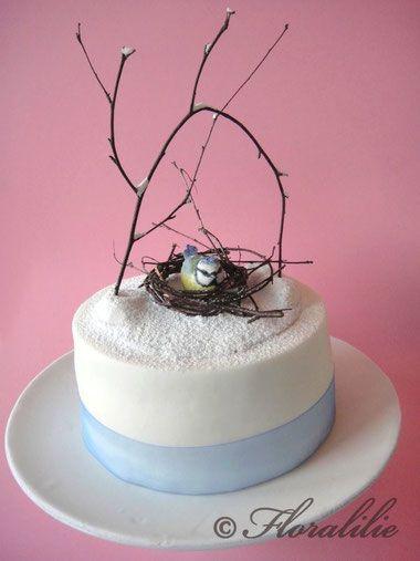 Blaumeisen-Torte von Floralilie - Blue Tit Cake by Floralilie