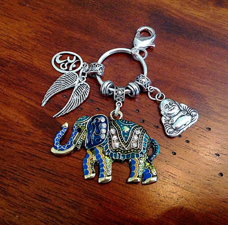 Car Accessory, Keychian, Yoga Keychain, Buddha Keychain, Namaste Keychain, Lucky…