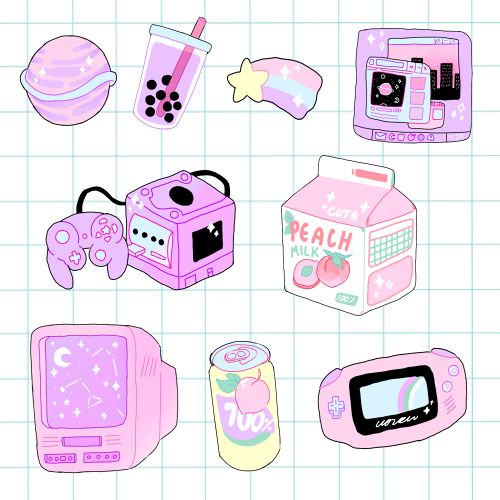 "corrah: "" just added some aesthetic stickers to my redbubble! grab some now by…"