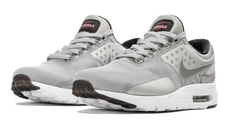 Metallic Silver Covers The Nike Air Max Zero