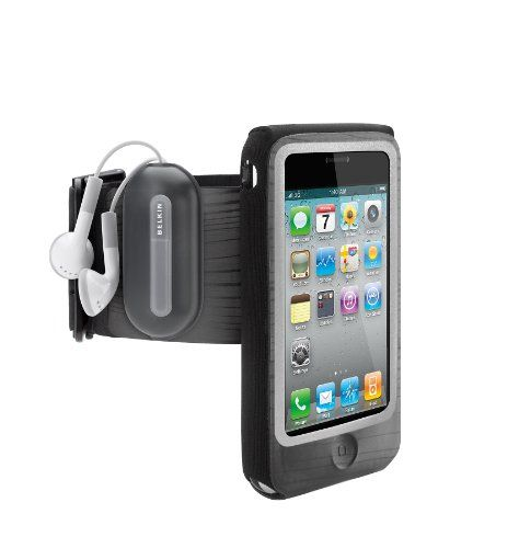 Something like this. I don't know what brand is good, but something to hold my iphone (4s... maybe 5) while I, cough cough, pretend to run outside.  Belkin FastFit Armband for Apple iPhone 4/4S (Black) Belkin,http://www.amazon.com/dp/B003RFLSY2/ref=cm_sw_r_pi_dp_rT8Osb1824XMNVTX