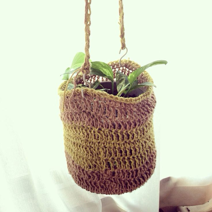 DIY: plant hunger with jute