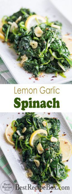3f7893426cce1648670bd61e46b20de8 Garlic Lemon Spinach Recipe that's Healthy and Vegetarian | Best Recipe Box