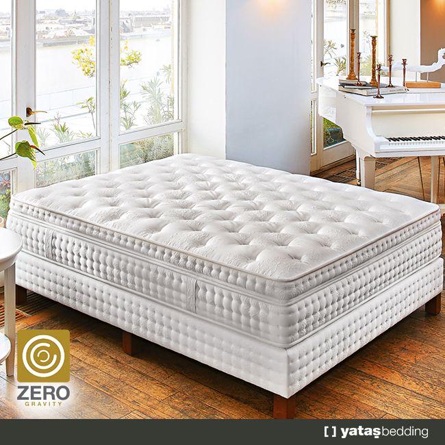 #Zero #Gravity'nin 5 bölgeli yay dizilimi, vücudunuzun 5 hassas bölgesine ekstra destek sağlayarak, omurganın doğal eğrisini korur ve size daha sağlıklı bir #uyku sunar.