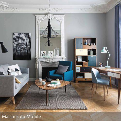 Wenn Mid-Century-Retromöbel auf Stuckleisten treffen, sorgt dies für einen besonderen Look. Die klassischen Elemente kombiniert mit Möbeln im Look der 50er…