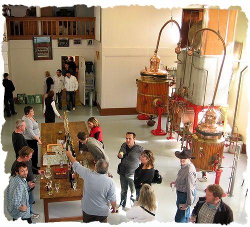 Absinthiades 2010. An absinthe tasting at the Emile Pernot distillery.