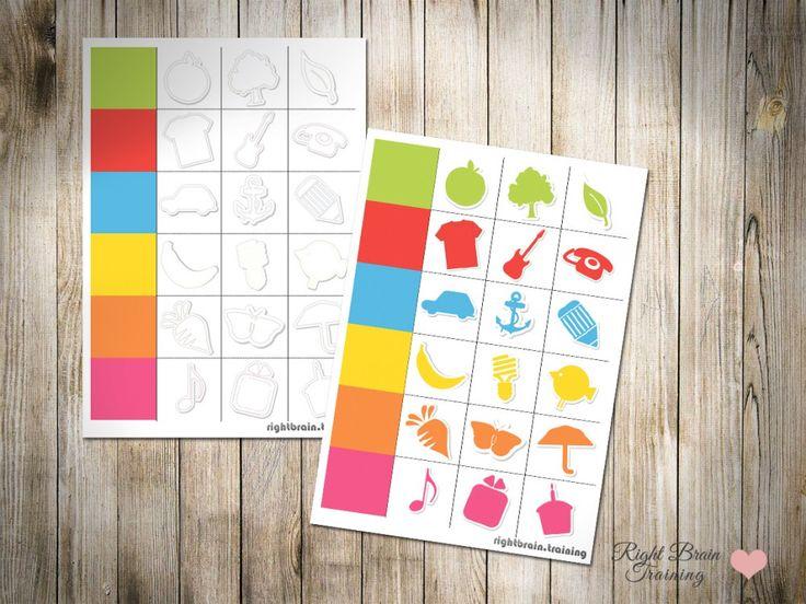 """Игра """"Цвет-картинка"""" - Занятия для развития детей RightBrain.Training"""