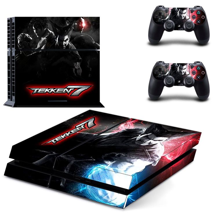 Tekken 7 ps4 skin decal for console and 2 controllers