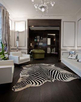 I like the zebra decor