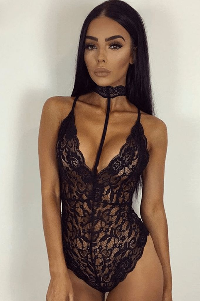 Lace See Through Body