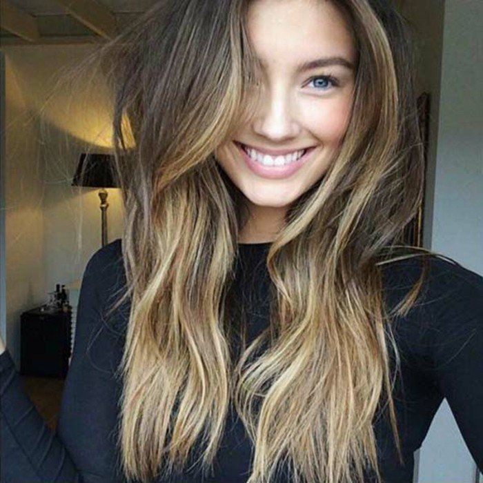 Le balayage blond sur chatain balayage naturel