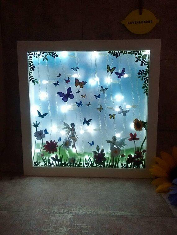 Butterfly fairy night light kids room lighting by Love4Lemons