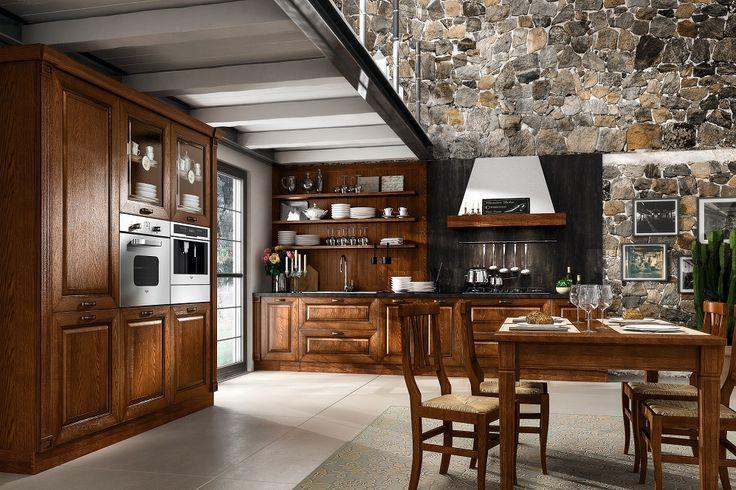 Klasyczna włoska kuchnia, wykonana na miarę. Marzenie każdej pani domu! http://www.mega-meble.pl/meble-kuchenne/kuchnia-regale.html
