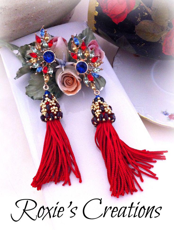 Earrings tassel, Handmade Earrings, Handmade from Italy (spedizione in Italia già inclusa nel prezzo!) di LeGioieDiRoxie su Etsy