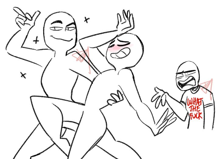 """looneyfrechie: """" draw the ot3/otp & third wheel please credit and tag me in your works if you use"""