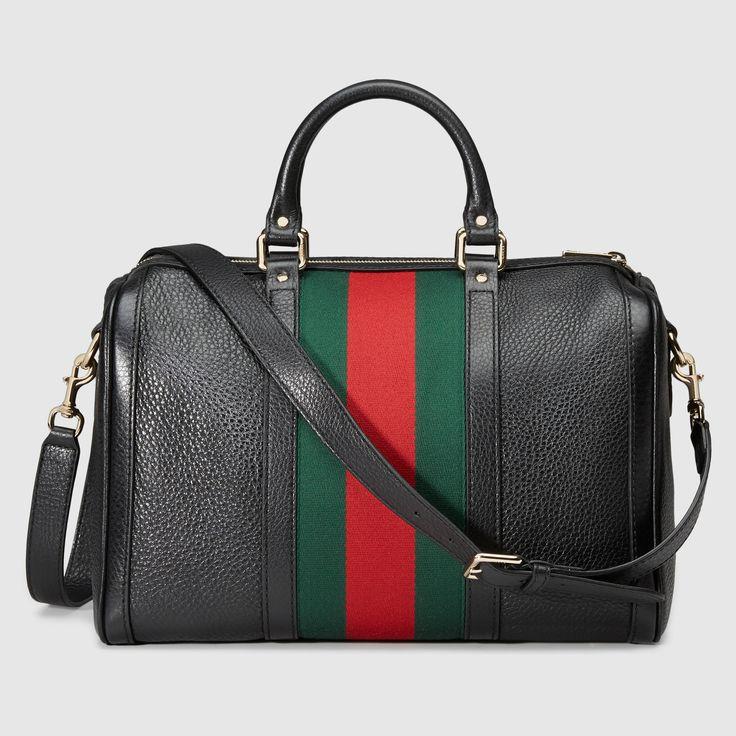 Gucci Women - Vintage Web leather boston bag - 247205A7MAG1060
