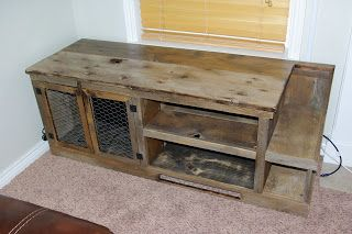 Reclaimed Rustics Barn Wood Entertainment Center With