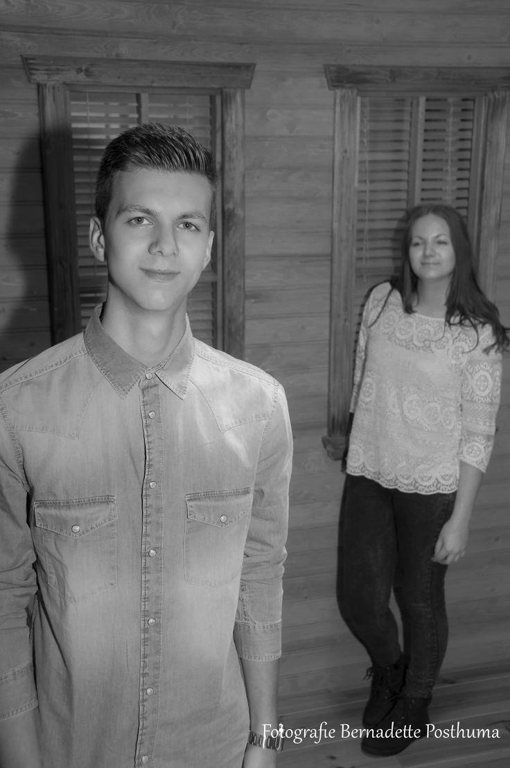 Broer en zus fotoshoot