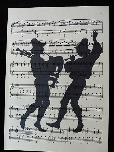 Country Musicians Silhouette Wall Art Print on by DecorisDesigns