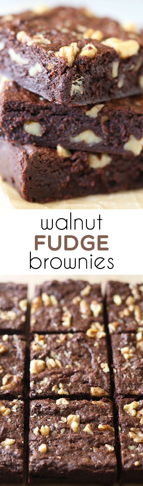 Our new GO-TO brownie recipe!! So much better than box mix brownies, but practically as easy! Walnut Fudge Brownies. from @handleheat