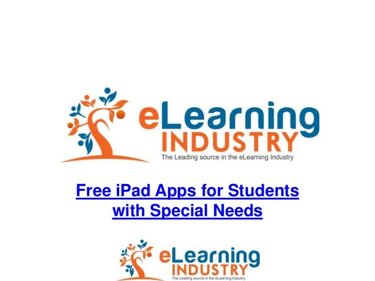 List of 78 Free iPad Apps for Students with Special Needs from e-Learning Industry.  The  apps are listed in a SlideShare presentation.