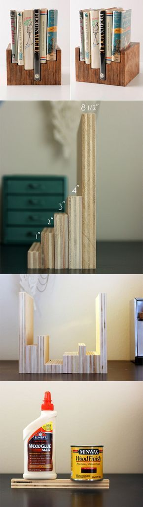 Stained Plywood Book Display Case / 25 Awesome DIY Ideas For Bookshelves (via BuzzFeed)