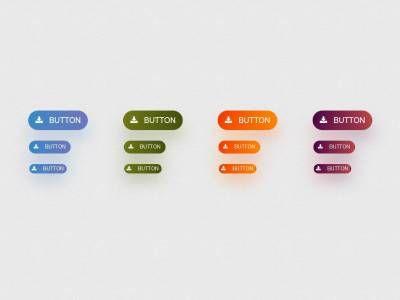 Кнопки Bootstrap 3 с blur эффектом размытия, изменён стандартный вид и цвета, предоставлены все 4 размера кнопок.