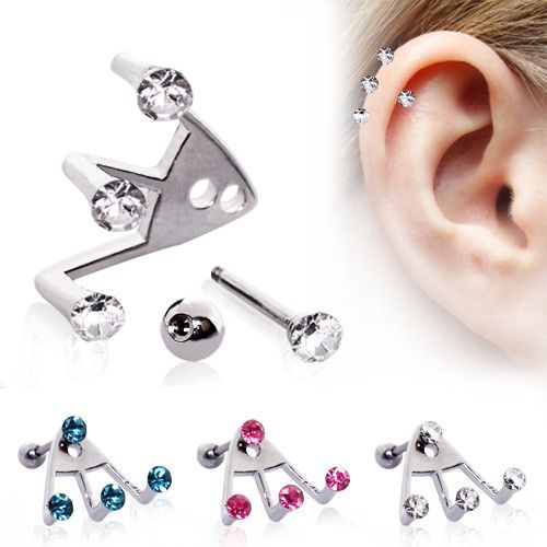 cool, trendy way to highlight a cartilage/helix piercing