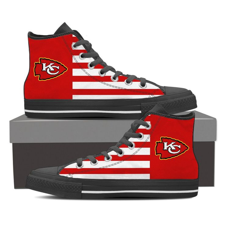 KANSAS CITY CHIEFS AMERICA FLAG STYLE HIGH TOP SHOES – Best Funny Store