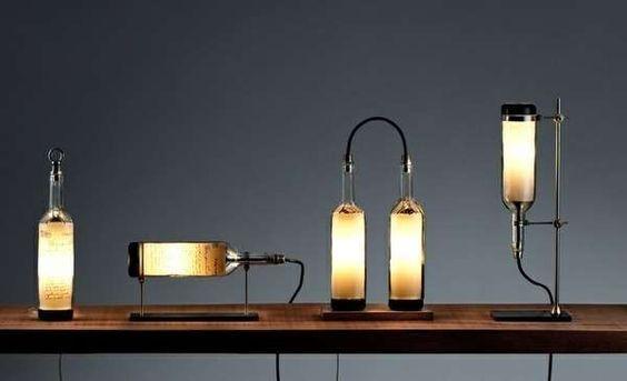 존 멩의 와인 병 램프 시리즈는 완벽하게 현대 #lighting의 trendhunter.com입니다 :