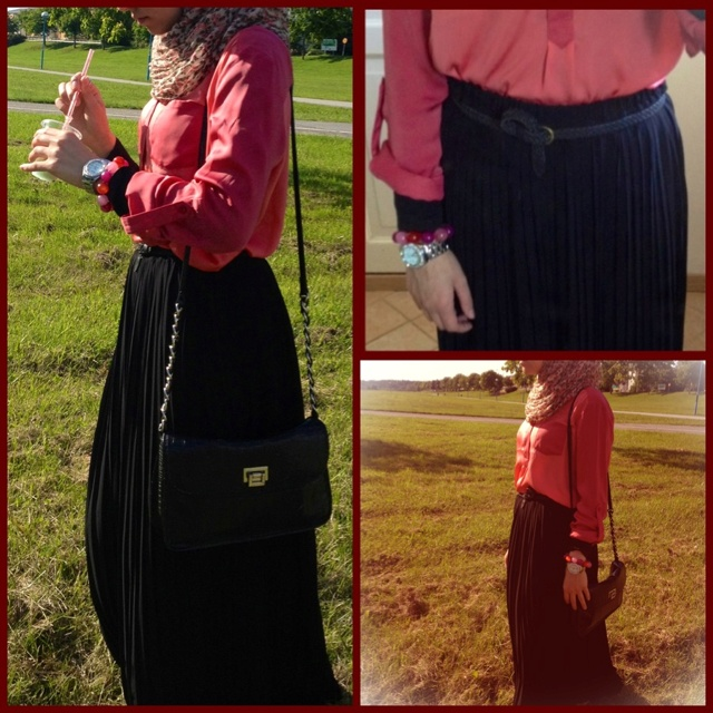 Hijab fashion maxi skirt