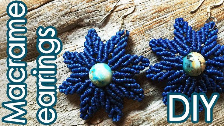 フラワーリーフイヤリングの作り方【マクラメ編み】Flower Leaf earrings Tutorial                                                                                                                                                                                 もっと見る